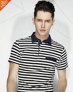 条纹文化衫